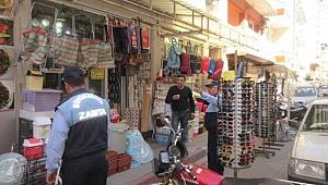 Ahmetli'de kaldırım işgallerine uyarı