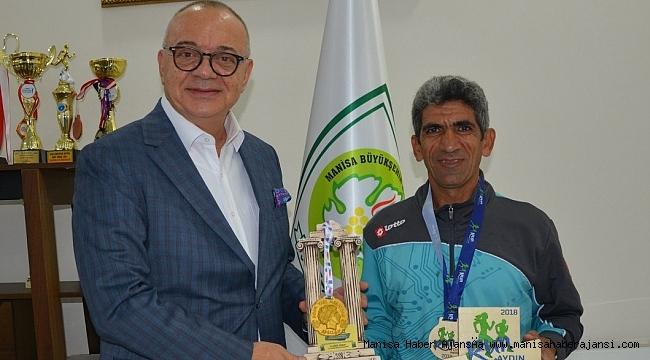 Başkan Ergün'den Büyükşehir'in Şampiyon Atletine Tebrik