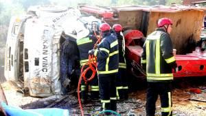 Manisa'da devrilen vincin operatörü öldü