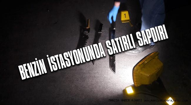 Benzin istasyonuna satırlı saldırı