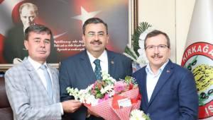 Milletvekili Aydemir'den Başkan Gedüz'e Ziyaret