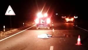 Manisa'da otomobilin çarptığı yaya öldü