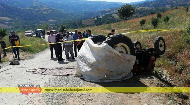 Manisa'da traktörün altında kalan kişi öldü