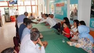 Aydemir, partisinin Sarıgöl ilçe teşkilatı üyeleriyle bayramlaştı