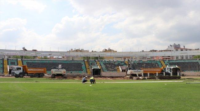 Denizli Atatürk Stadı'nda yenileme çalışmaları başladı