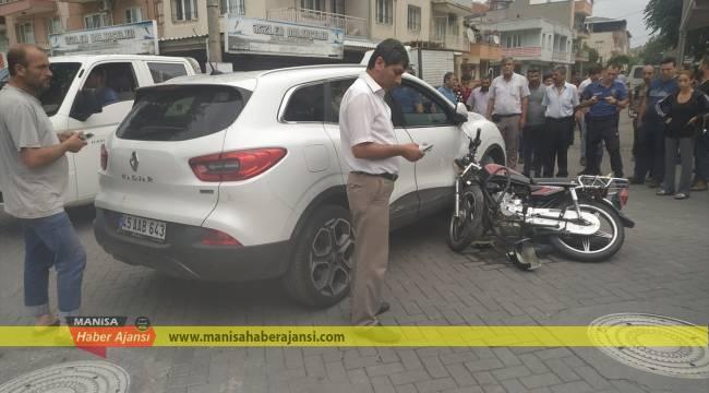 Turgutlu'da trafik kazası: 1 yaralı