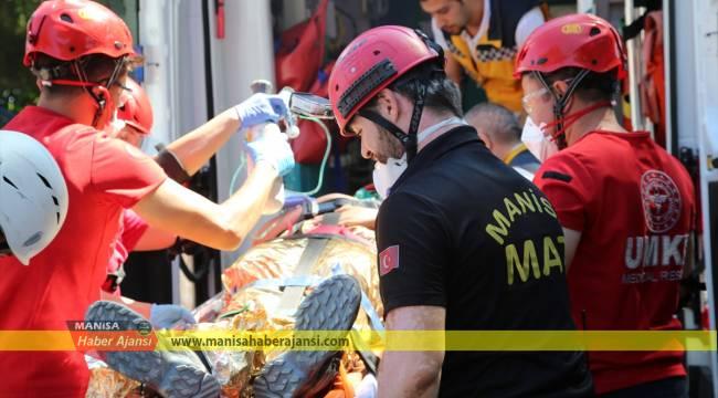 Manisa'da deprem tatbikatı
