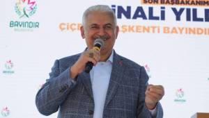 BİNALİ YILDIRIM BAYINDIR'A MÜJDELERLE GELDİ
