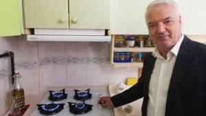 Başkan Bilgin, Doğalgaz Ateşinde Pişirilen İlk Kahveyi İçti