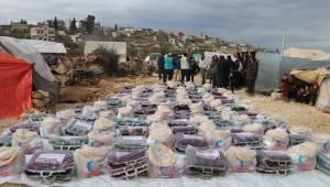Yardımlar İdlib'e ulaştı