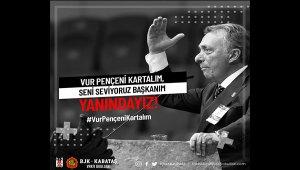 Beşiktaş Başkanı Ahmet Nur Çebi'ye moral videosu
