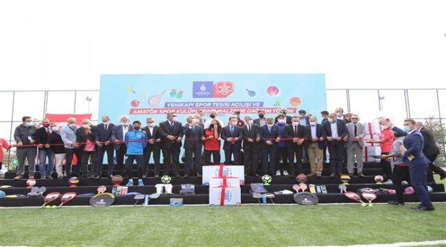 İBB'den spora tesis ve ekipman desteği