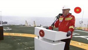 Cumhurbaşkanı Erdoğan, Fatih Sondaj Gemisi'nden millete seslendi