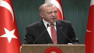 Cumhurbaşkanı Erdoğan, kabine toplantısı sonrası ''Millete Sesleniş'' konuşması yaptı