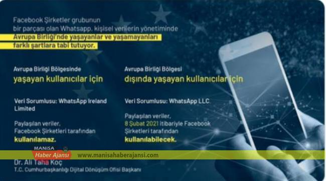 Cumhurbaşkanlığı Dijital Dönüşüm Ofisi Başkanı Koç'tan WhatsApp açıklaması: BİP ve Dedi kullanalım