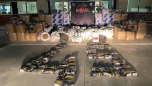 Manisa'da 1 ton 315 kilogram kaçak tütün ele geçirildi