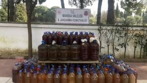 Manisa'da bin 73 litre sahte içki ele geçirildi