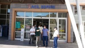 Sağlık Müdürü Emre Erkuş sağlık birimlerini inceliyor