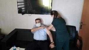 Kaymakam ve Başkan'dan aşı çağrısı
