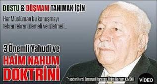 Erbakan Her Türk Evladının Bilmesi Gereken 3 Önemli Yahudi ve Haim Nahum Doktrini